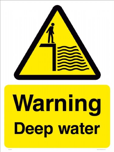 Warning Deep water